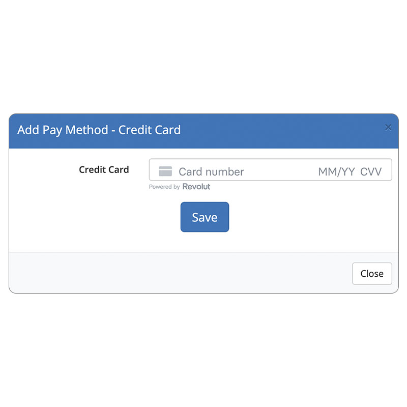 Add Pay Method for Customers